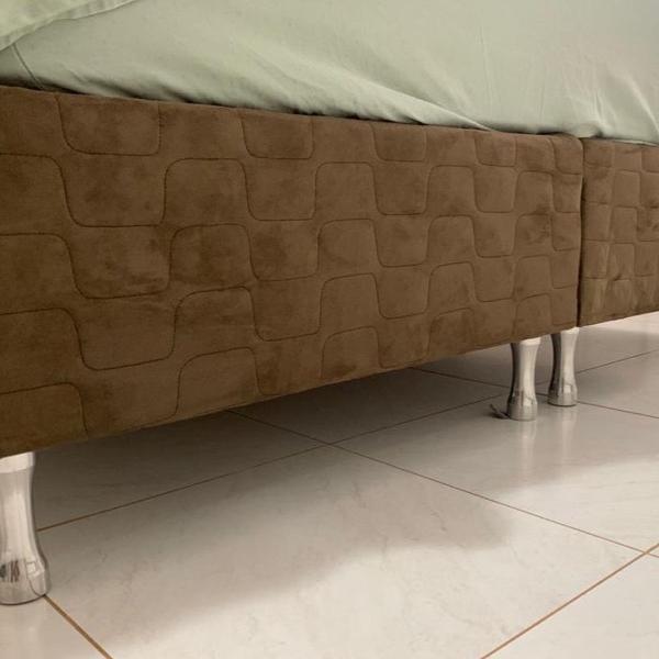 Box cama queen, apenas o box marrom