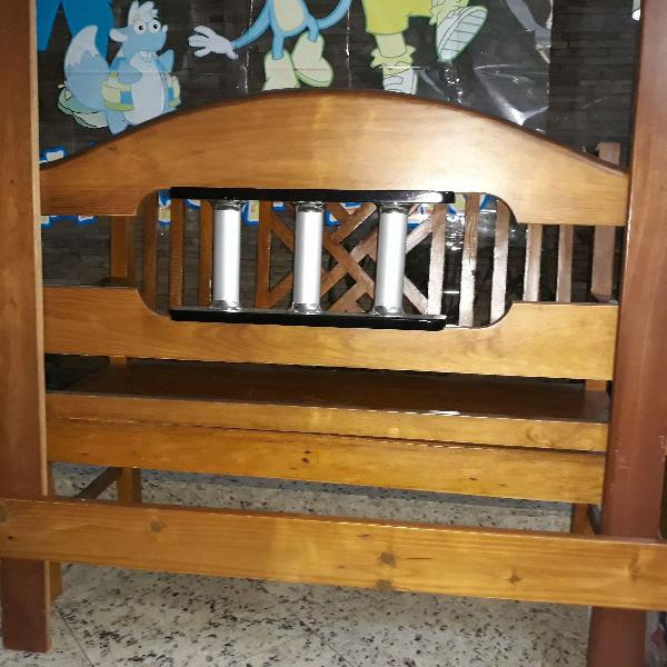 Cabeceira madeira cama box casal