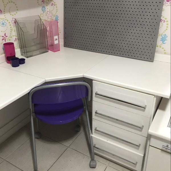 Cadeira + kit organizador p escritório