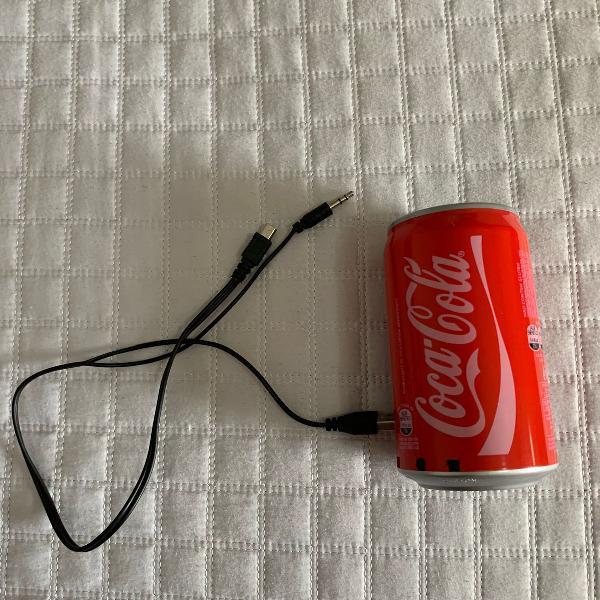 Caixinha de som coca cola