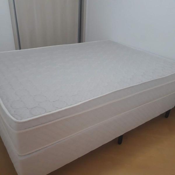 Conjunto - cama box de casal + colchão ortopédico