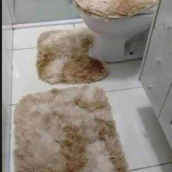 Jogo de banheiro 3 peças peludo 4cm felpudo luxo