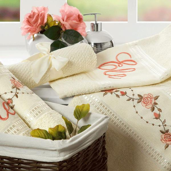 Jogo de banho 100% algodão kit bouquet 5 peças