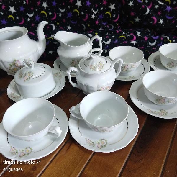 Jogo de chá porcelana paraná steatita
