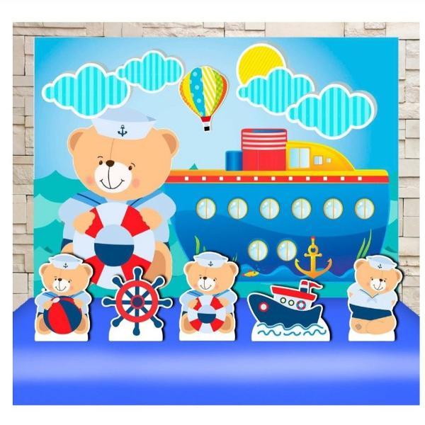 Kit festa chá de bebê urso marinheiro