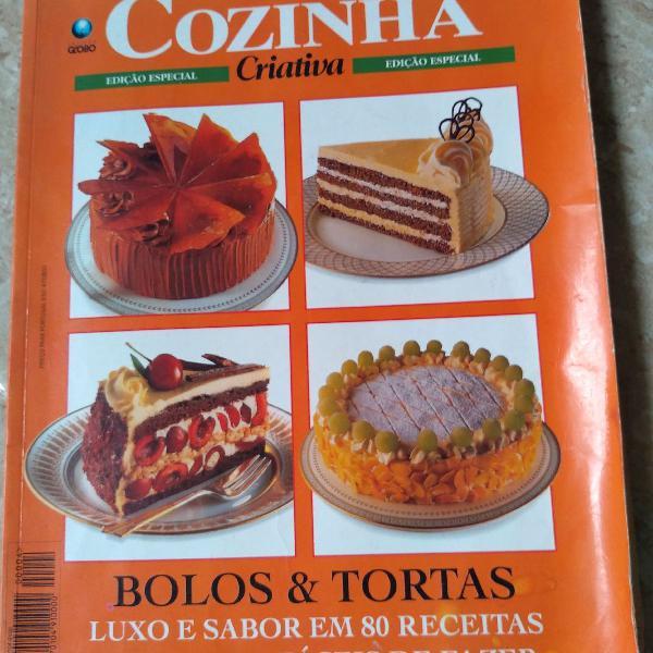 Livro de receitas, bolos e tortas