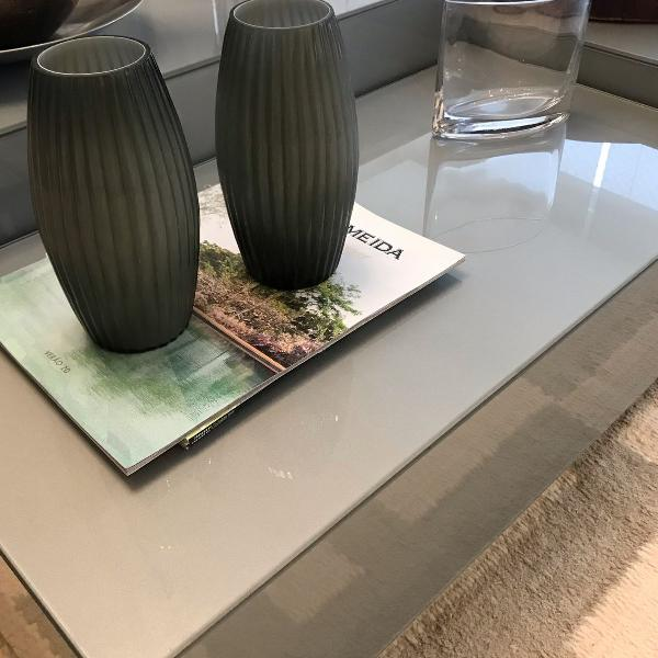 mesa de centro de cristal da breton
