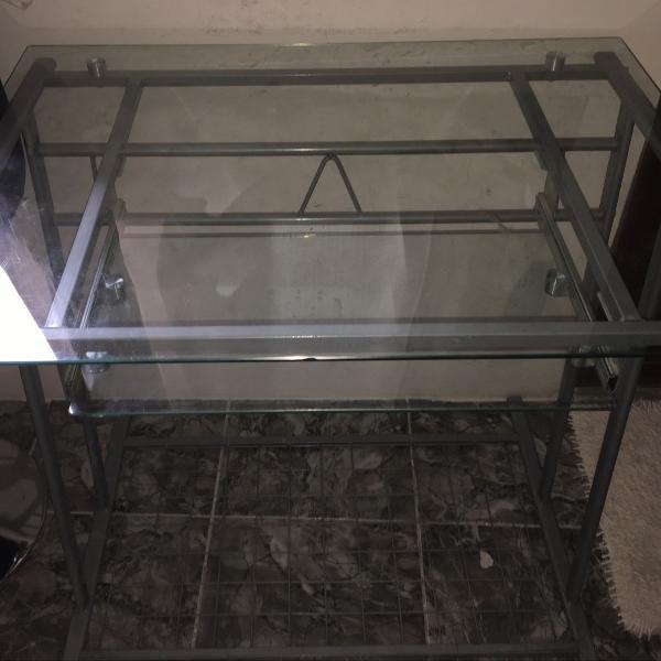 Mesa de computador,vidro transparente