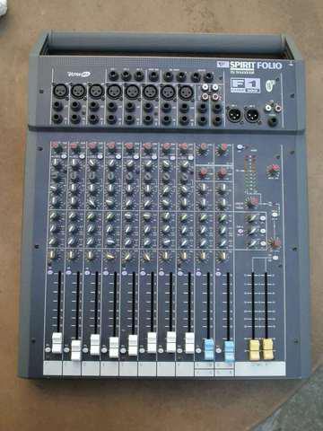 Mesa de som spirit - soundcraft - 14 canais