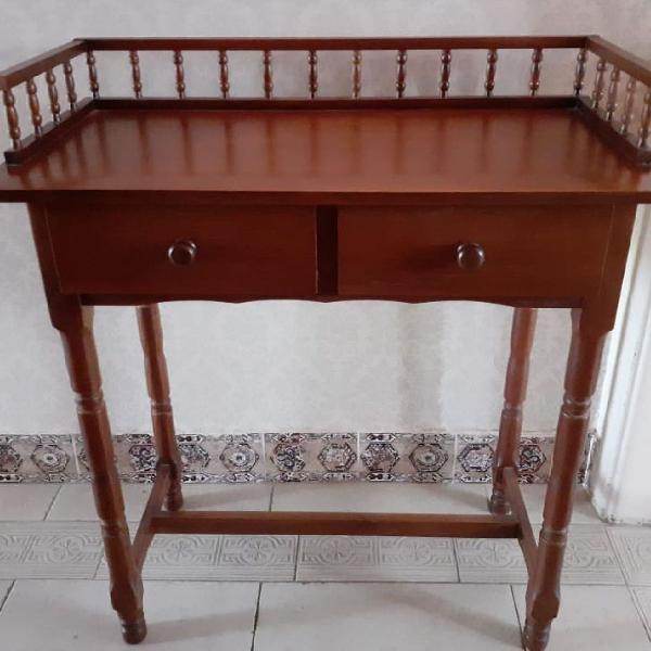 Mesa escrivaninha madeira seminova qualidade