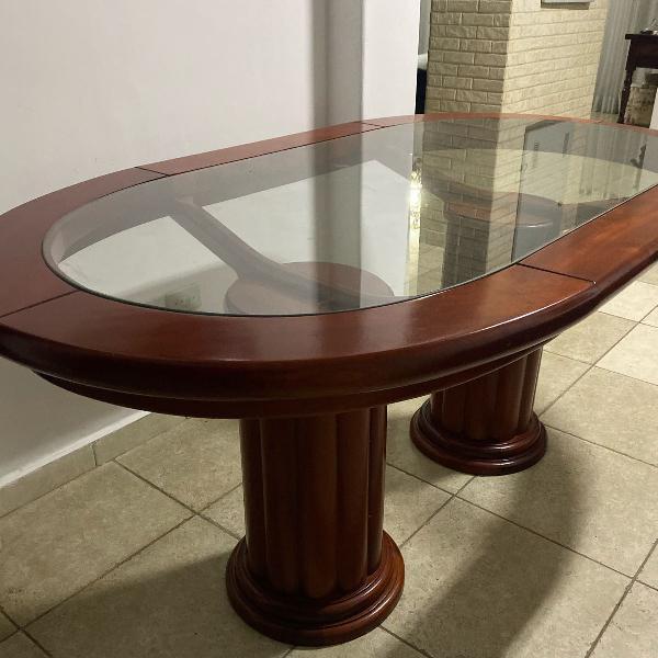 Mesa madeira mogno