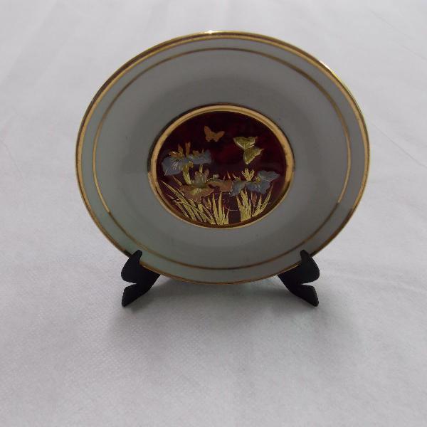 Mini prato de porcelana