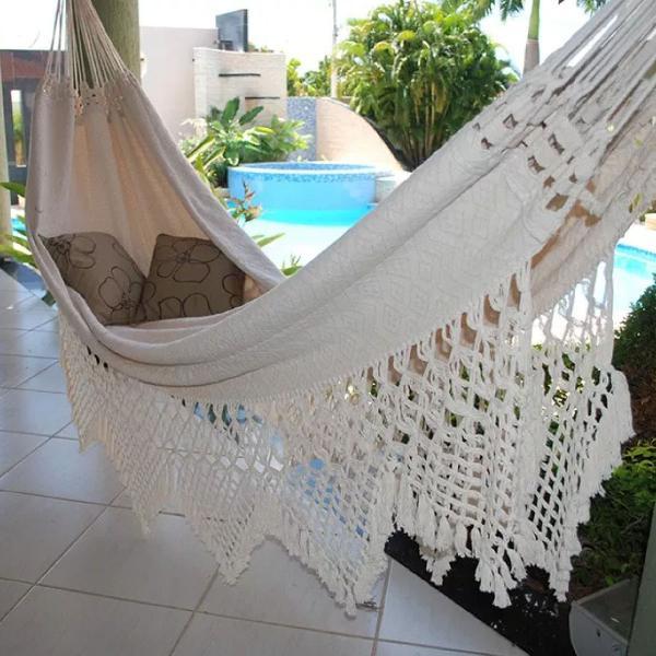 Rede de descanso luxo p dormir tambaba crua top linda