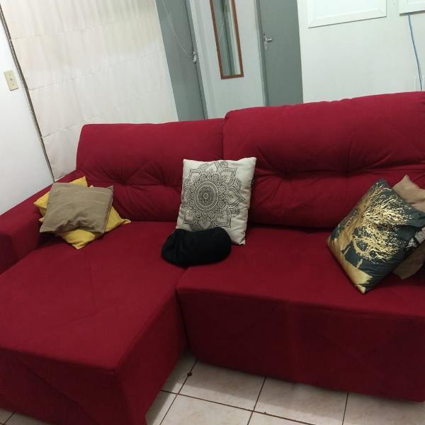 Sofá castor san paolo retrátil reclinável vermelho 4