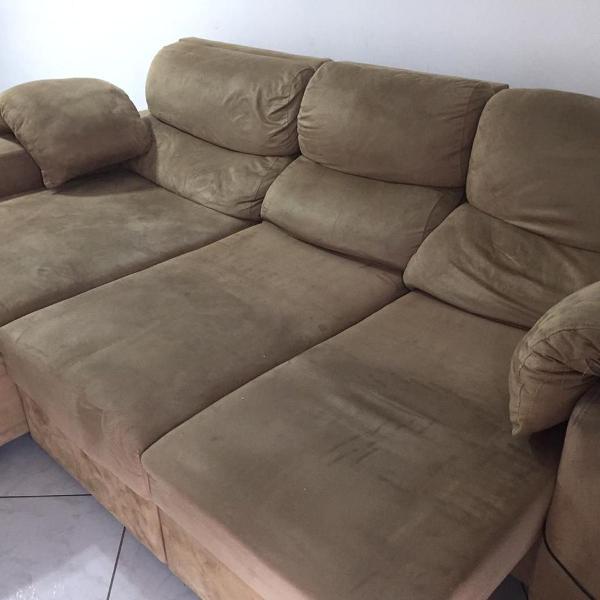 Sofá retrátil, reclinável, comprado na sylvia design,