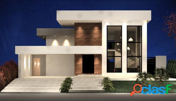 Casa térrea - 4 suítes - construção - condomínio clube