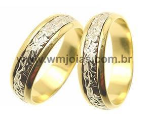 Alianças bodas de ouro