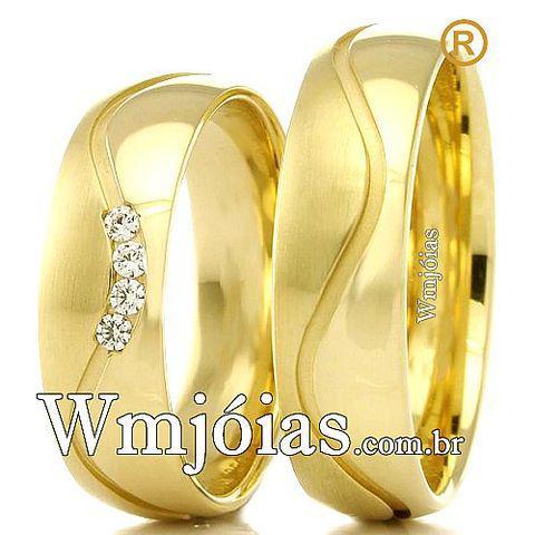 Alianças de casamento apaixonados