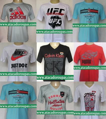 Atacado roupas, camisetas de marca famosa r$ 9,99