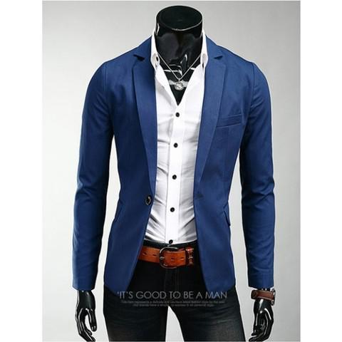 Blazer terno l masculino slim fit em algodão - frete