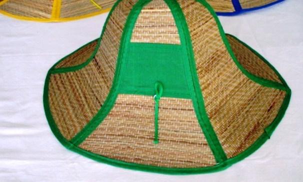 Chapeu de palha dobravel para brindes, com protetor solar