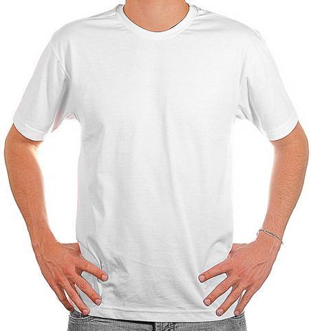 Camisa camiseta blusa regata branca 100% poliéster.