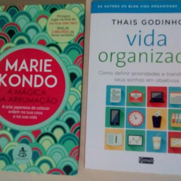 Combo de 2 livros sobre organização