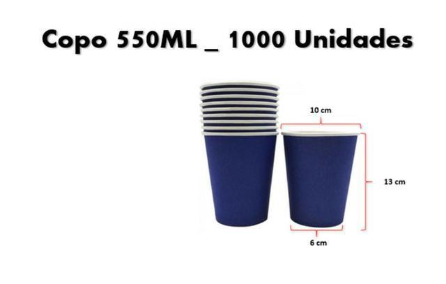 Copo papel 550ml descartável 1000 unidades | #promoção: