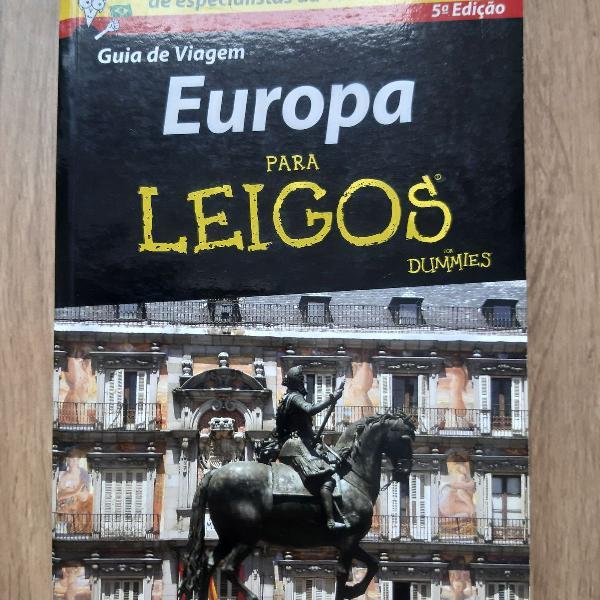 Livro - europa para leigos - guia de viagem com dicas e