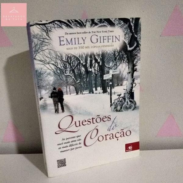 """Livro. """"questões do coração"""""""