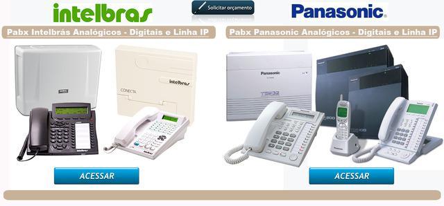 Pabx & interfone digital, alarmes e cftv, consulte nos