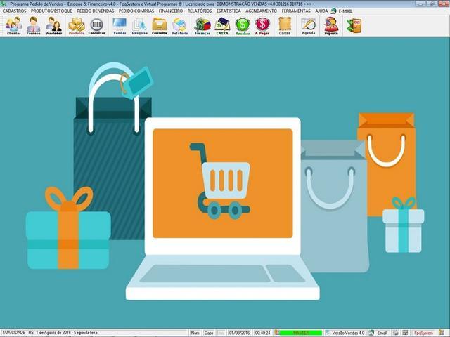 Programa controle de estoque pedido de vendas e financeiro