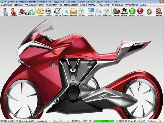 Programa os oficina mecânica moto vendas controle de