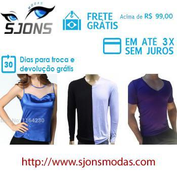 Sjons modas - camisetas - camisas - regatas - a moda ao seu