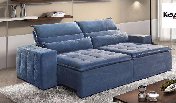 Sofá retrátil e reclinável (ref. ar) med. 2,10 x 1,20