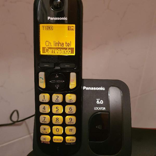 Telefone sem fio panasonic kxtgc210 l13 preto