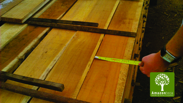 Venda de lote de madeira nobre de teca