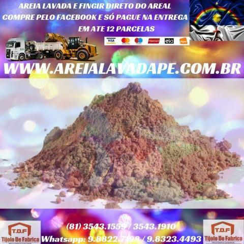 Venha areia lavada direto do areeiro com frete gratuito