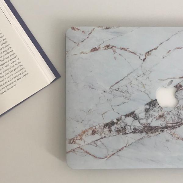 Case capa pra macbook air 13 (2012 - 2017) cor mármore