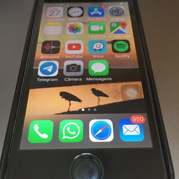 iphone 5s cinza 16g- perfeito esta+ manual+ carregador+fones