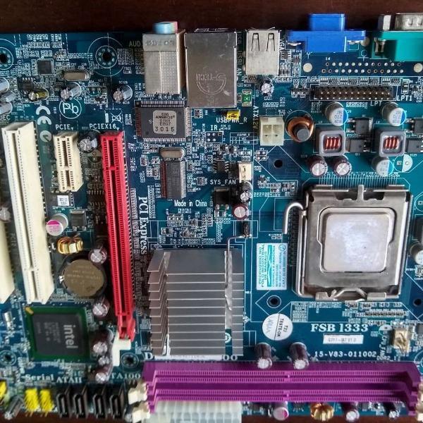 Kit placa mãe semp toshiba + processador celeron 440