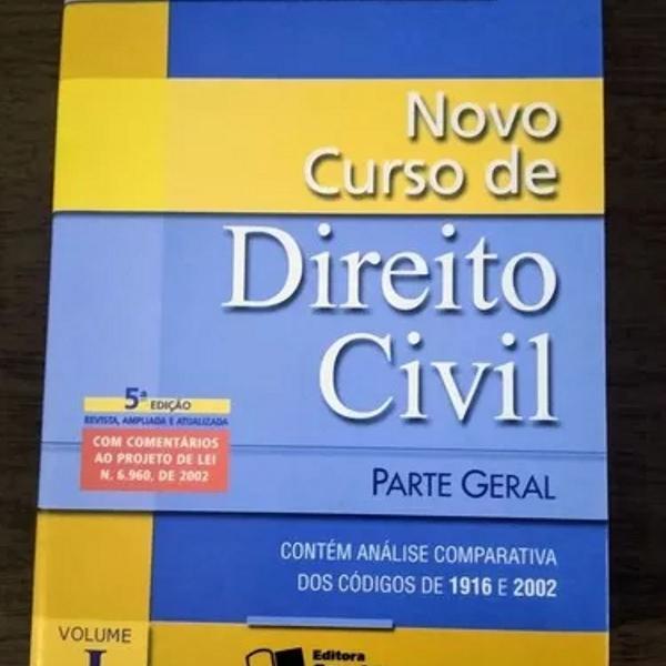 Livro novo curso de direito civil : parte geral (bom para