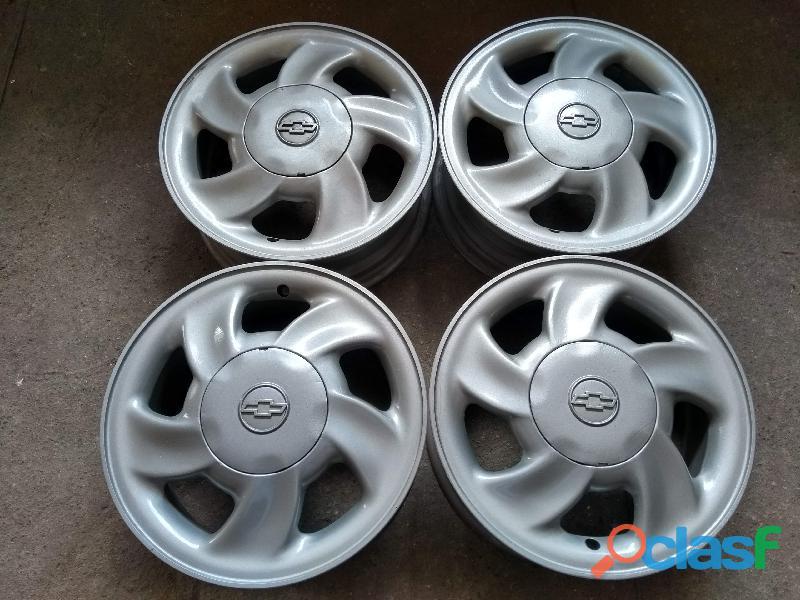 Corsa milenium roda original aluminio aro 14 gm chevrolet vectra kadett celta