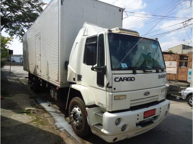 2422 e cabine semi leito branco truck bau 10 mts semi novo