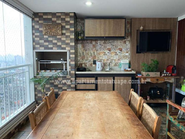 Apartamento tatuapé 106m² terraço gourmet