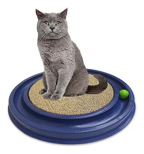 Arranhador gato com brinquedo grande 50x50cm