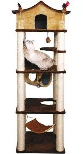 Arranhador para gatos castelo gigante c/rede