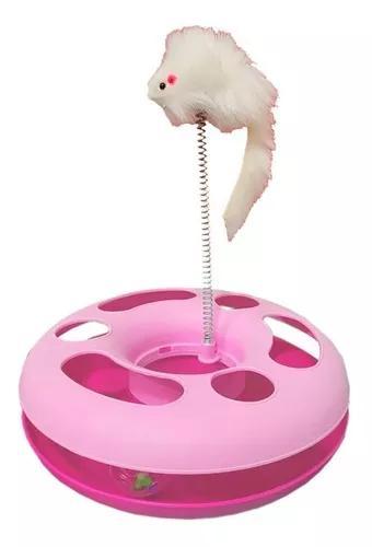 Brinquedo para gato interativo com ratinho rato bolinha