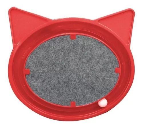 Brinquedo para gatos interação arranhador e bolinha