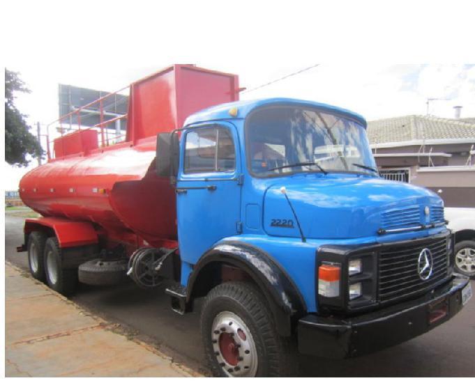 Caminhão mb 2220 pipa ano 1988 truck direção